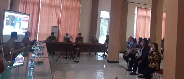 Bappeda Bolmong menyambut kedatangan TAPD Kabupaten Gorut dalam rangka kunjungan kerja (Kunker).