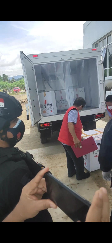 Para tenaga medis di Kabupaten Bolmong menjadi prioritas pemberian vaksin ini. (foto; hasil tangkapan layar)