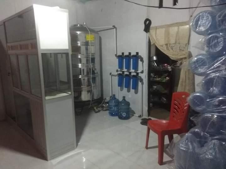Depot pengisian air minum isi ulang Badan Usaha Milik Desa (Bumdes) Ibolian Satu, Dumoga Barat, Bolaang Mongondow.