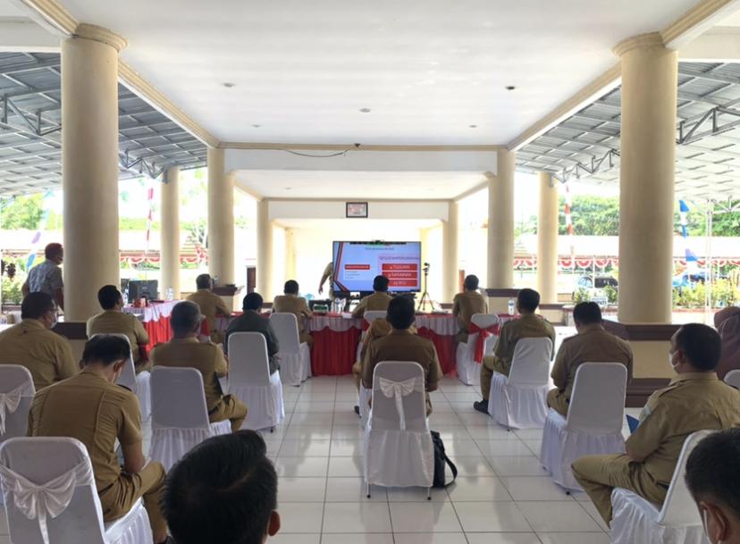 Jajaran Pemkab Bolmong mengikuti evaluasi SAKIP secara virtual yang diselenggarakan KemenPAN-RB